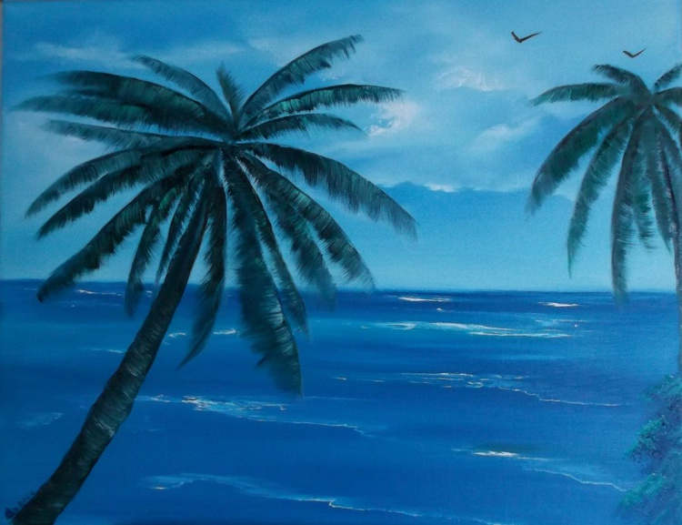Palm Trees on a Calm Day. - Image 0