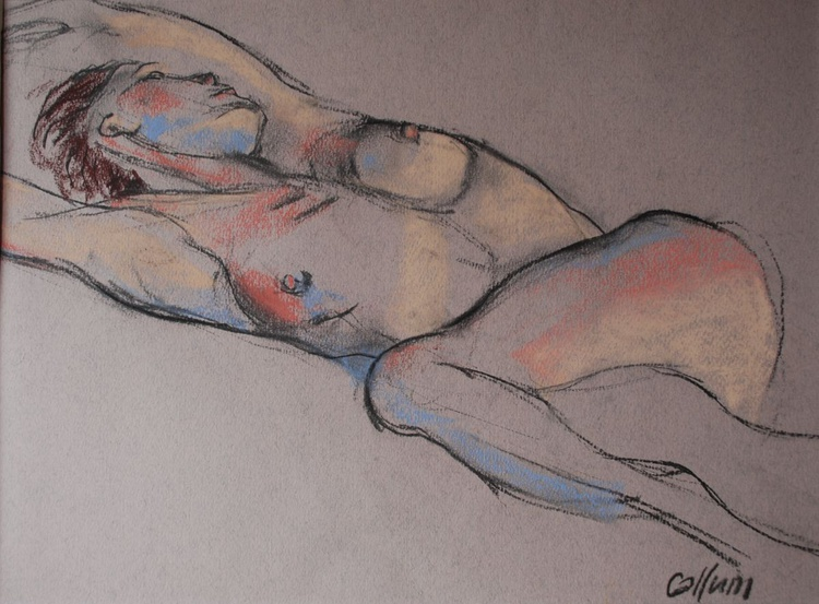 Nude reclining - Image 0