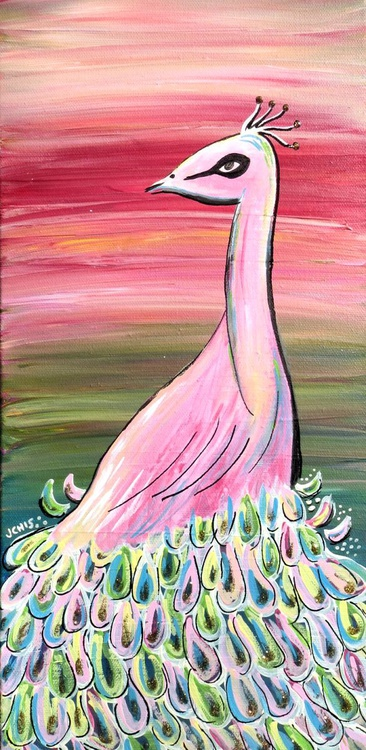 Peacock in Pink - Image 0
