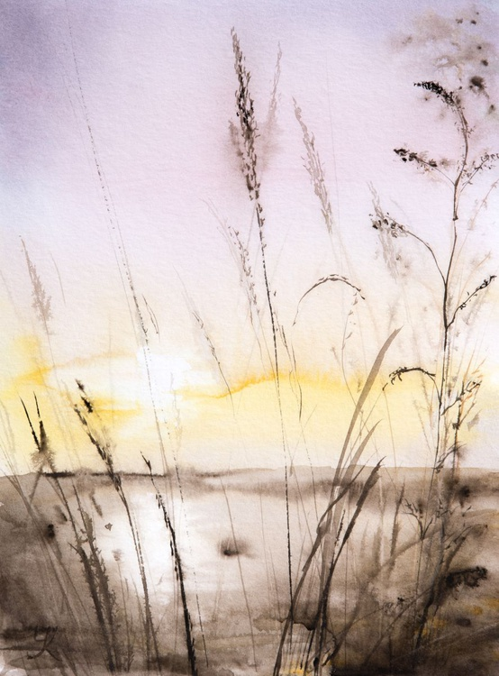 """""""Before sunset"""", original watercolour painting,  11.8""""x15.7""""(40x30cm), ready to hang - Image 0"""