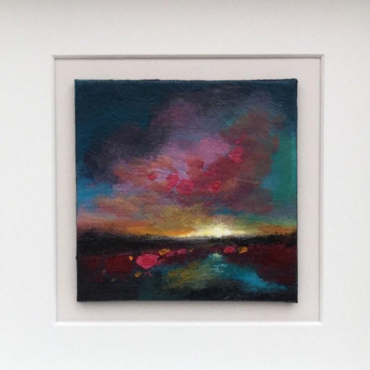 Mini sunset , framed - Image 0