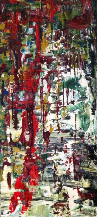 Ab15 i - Dragged Paint Abstract - Image 0