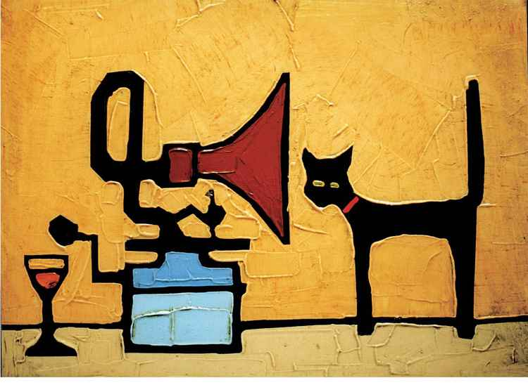 GRAMOPHONE AND CAT -