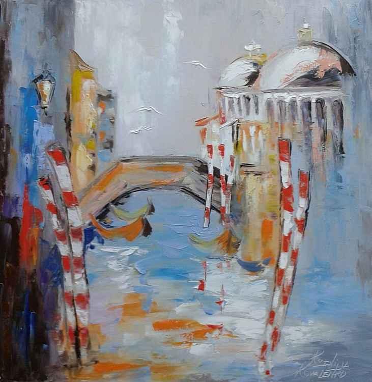 painting Венеция *Чарует душу роскошь древняя, И вдохновляет простота..* Oil on canvas 70х70 cm