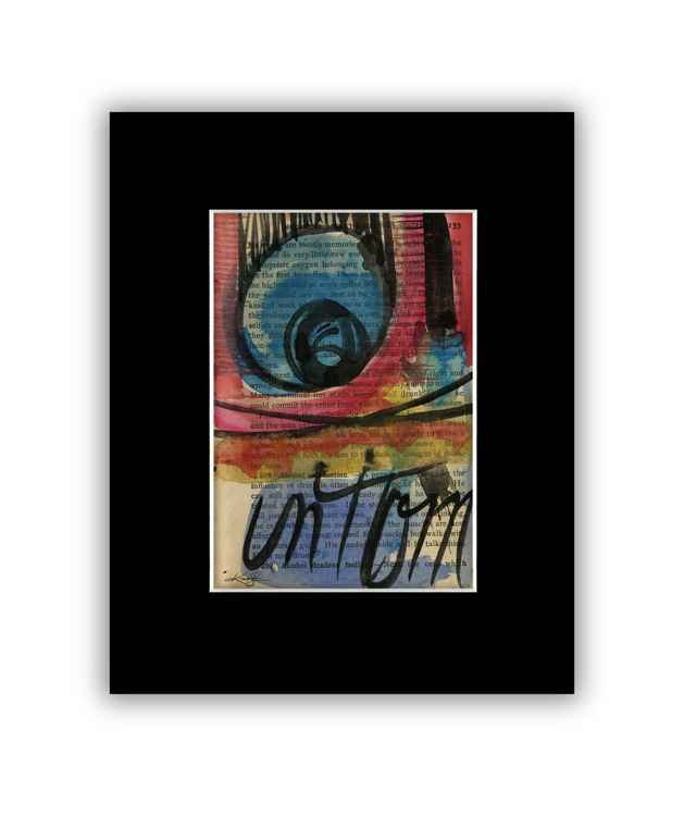 Abstract 17 on Antique Book Page - Abstract Watercolor Painting -