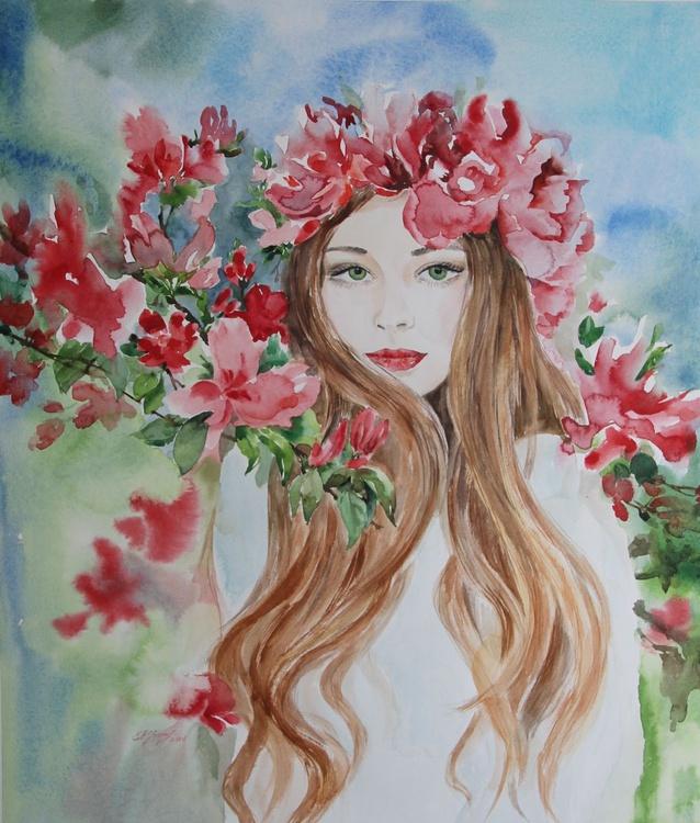 Girl in flowers - Image 0