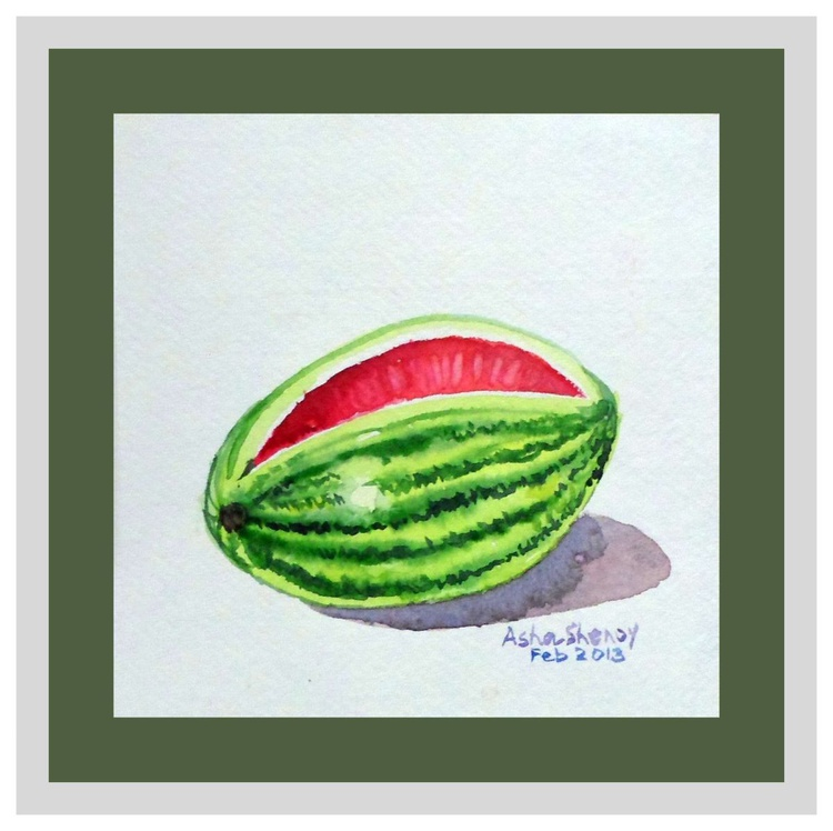 "Watermelon- Miniature-5.25""x 5.25"" - Image 0"