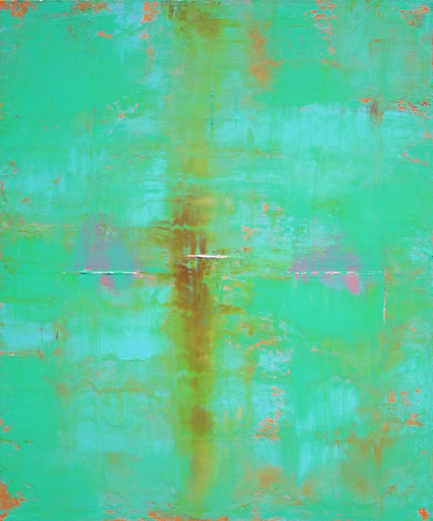 Abstract Teal Green Blue - Image 0