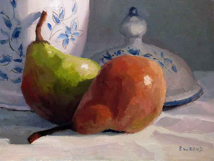 Pears and a Vase