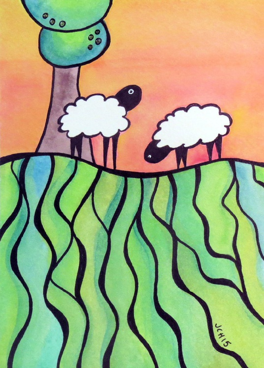 Sheep On A Hill: #1 - Image 0