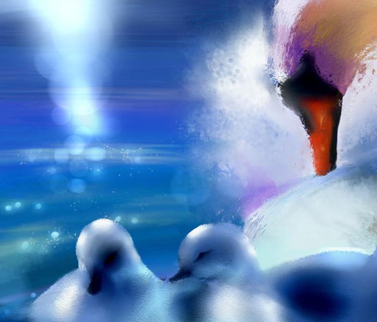 Graceful Swans - Image 0