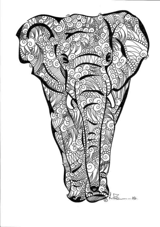 'Doodle Therapy Elephant' -