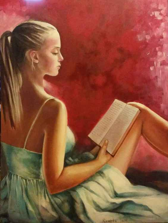 Girl with book - 60 x 80cm