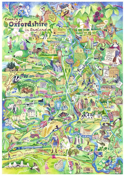 Map of Oxfordshire - Image 0