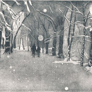 Lime Avenue in Snow by Marianne Nix