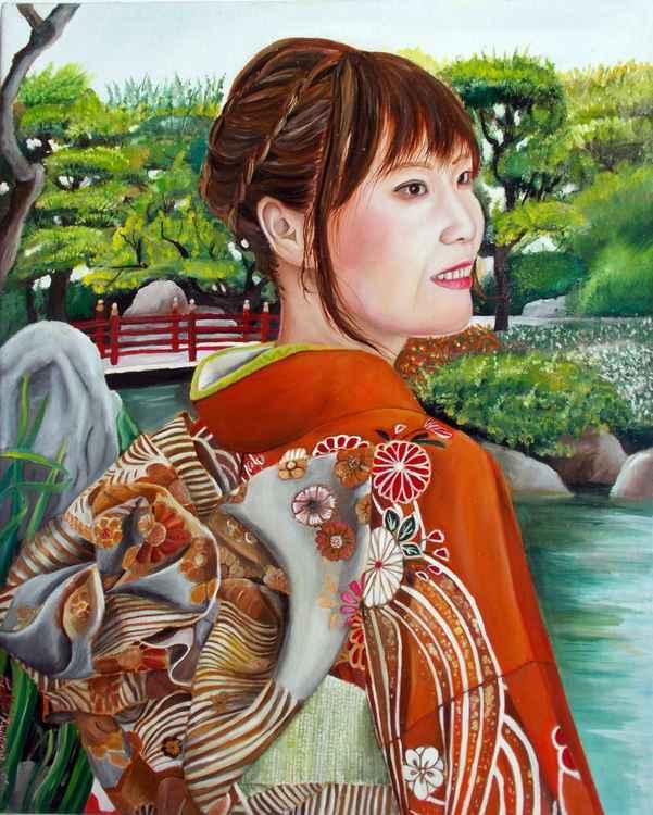 Yuuko in the garden -