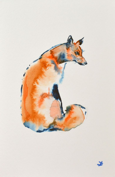 Sitting Fox - Image 0