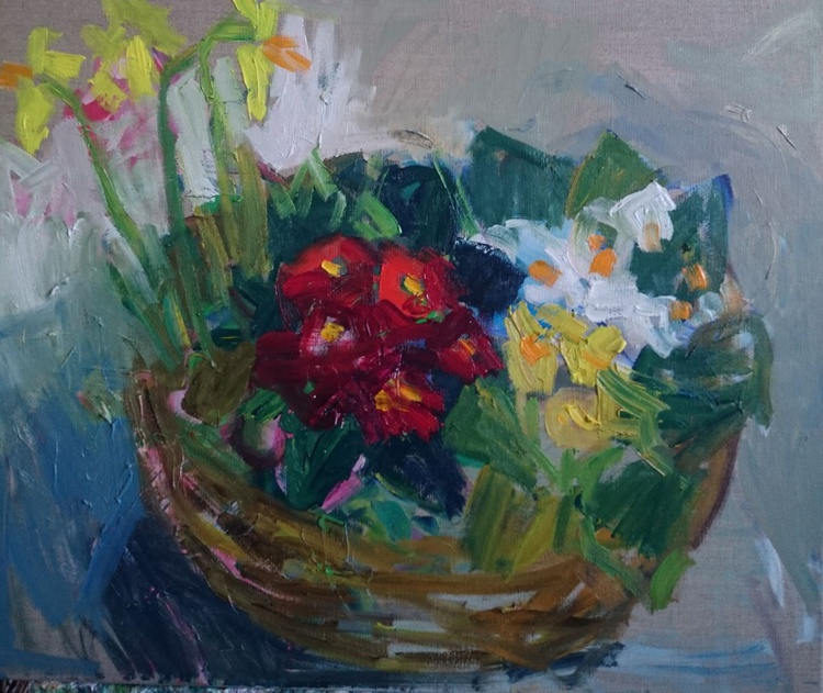 Basket of flowers - Image 0