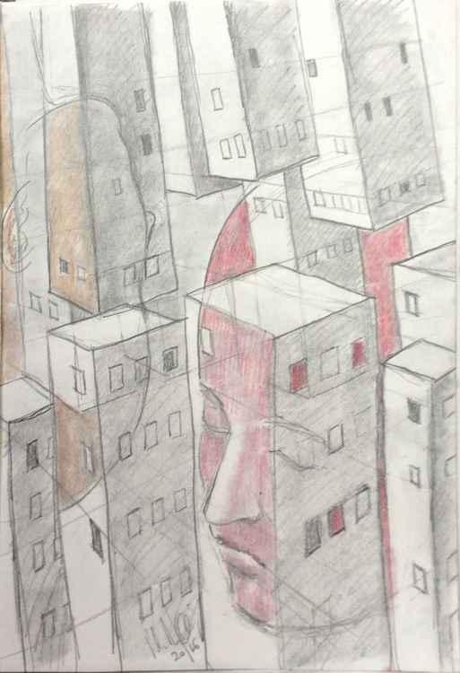 Cityscape sketch 3 -