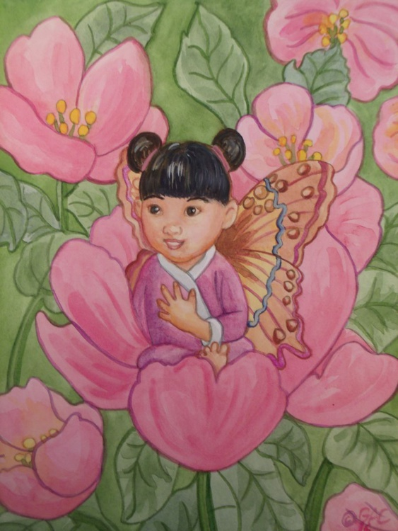 Spring Roses Fairy Girl - Image 0