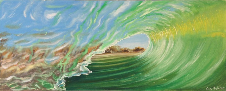 """The Voice of the Sea IX 12x30"""" oil on canvas - Image 0"""