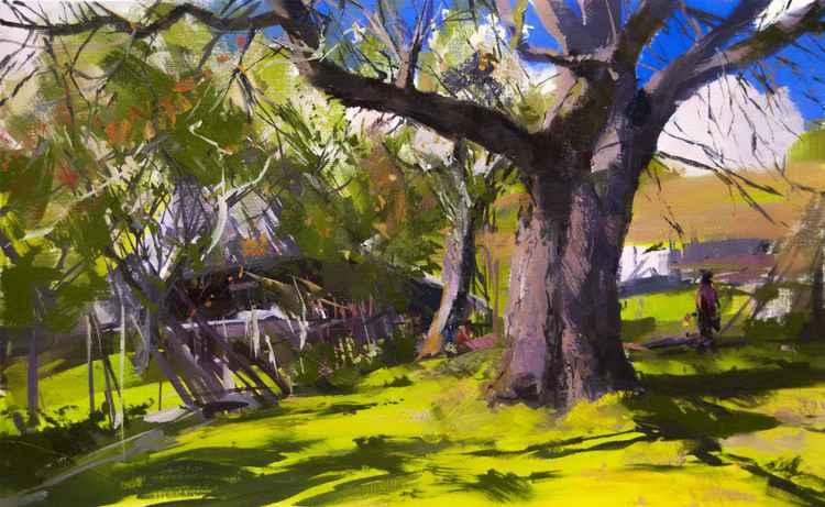 """Tree Painting """"Sunny Life"""" -"""