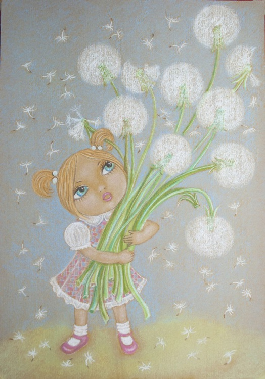Little Girl With Dandelions - Image 0
