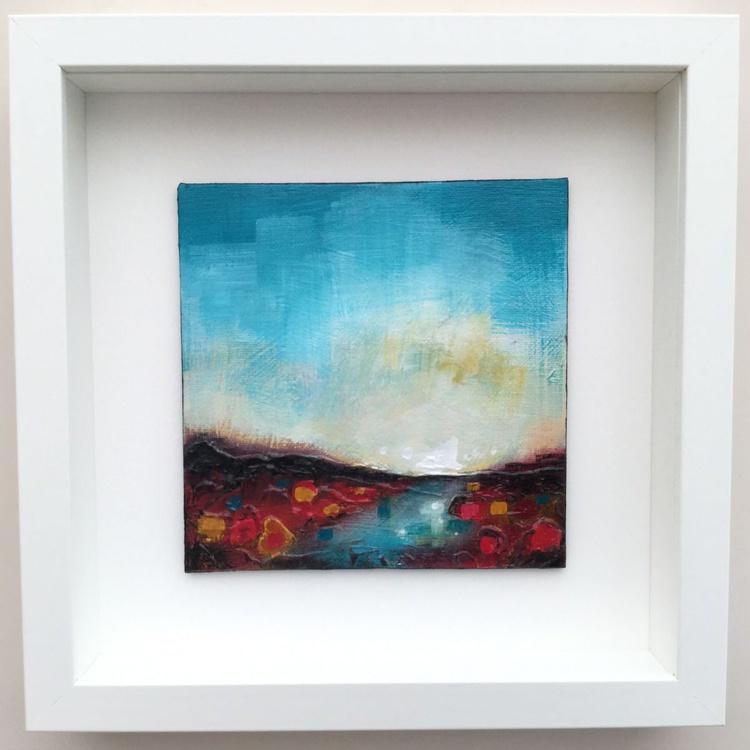 Stream, framed abstract landscape - Image 0