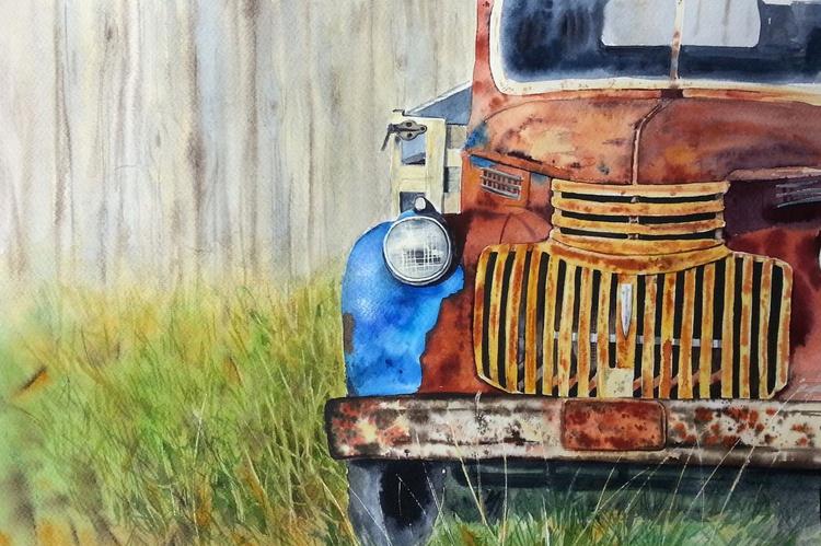 Abandoned, vintage car, rusty car, pick-up truck - Image 0