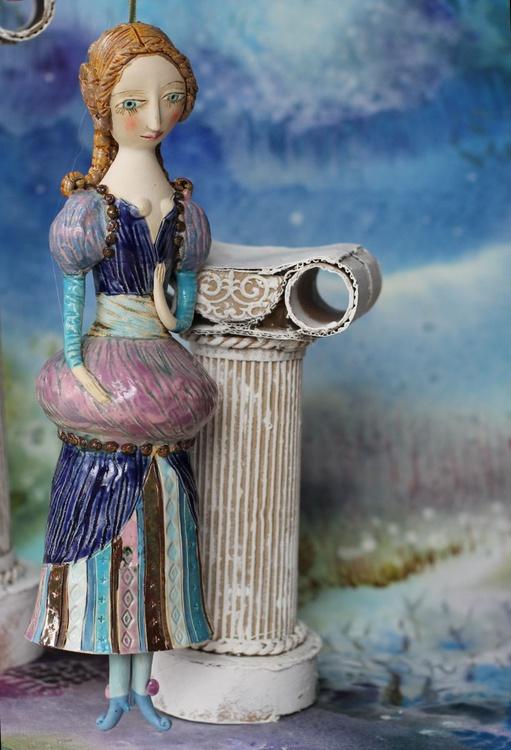 Helena. From Midsummer Night's Dream. Ceramic illustration project by Elya Yalonetski - Image 0