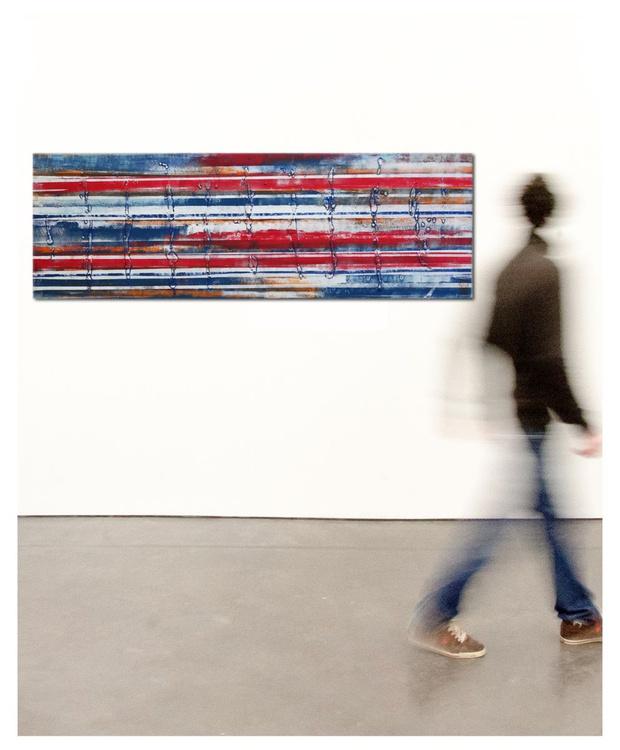 Landscape Red White Blue 482 - Image 0