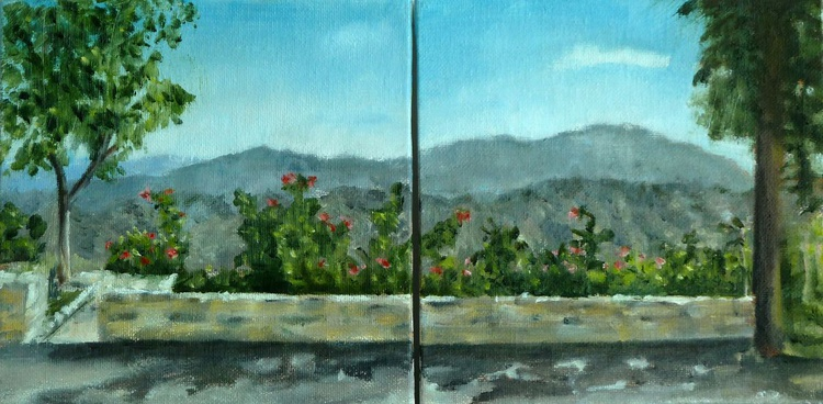 Mountain view diptych - Image 0