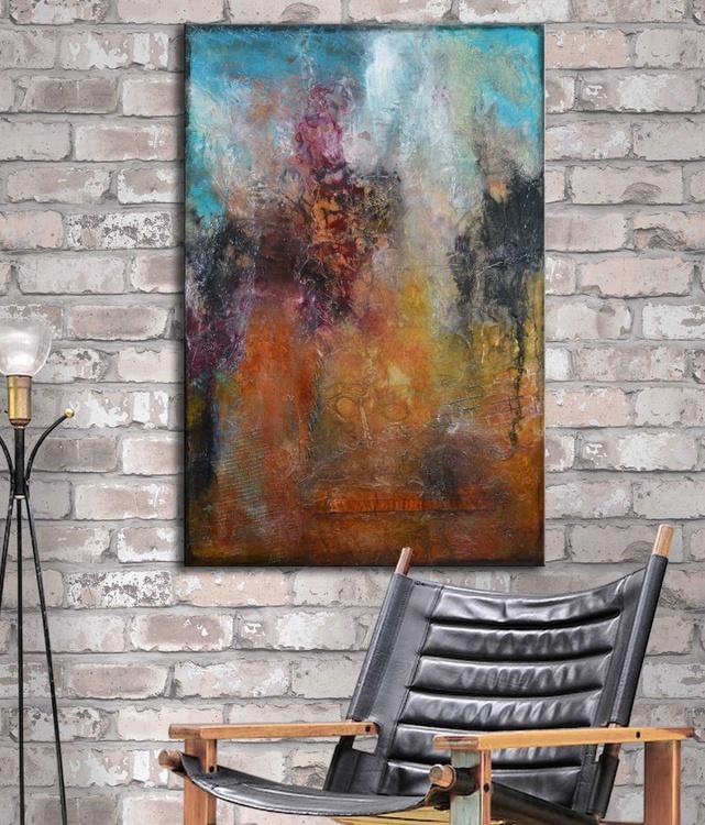 TREASURE HUNTING I - abstract textural mixed media painting - Image 0
