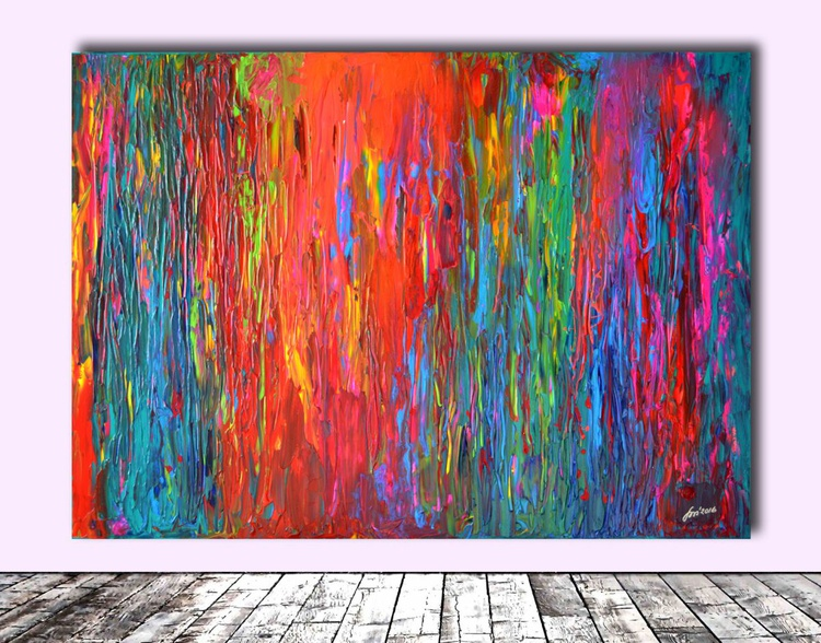 Gipsy Dance - 140x100 cm - Big Painting XXL - Large Abstract, Supersize Painting - Ready to Hang, Hotel Wall Decor - Image 0