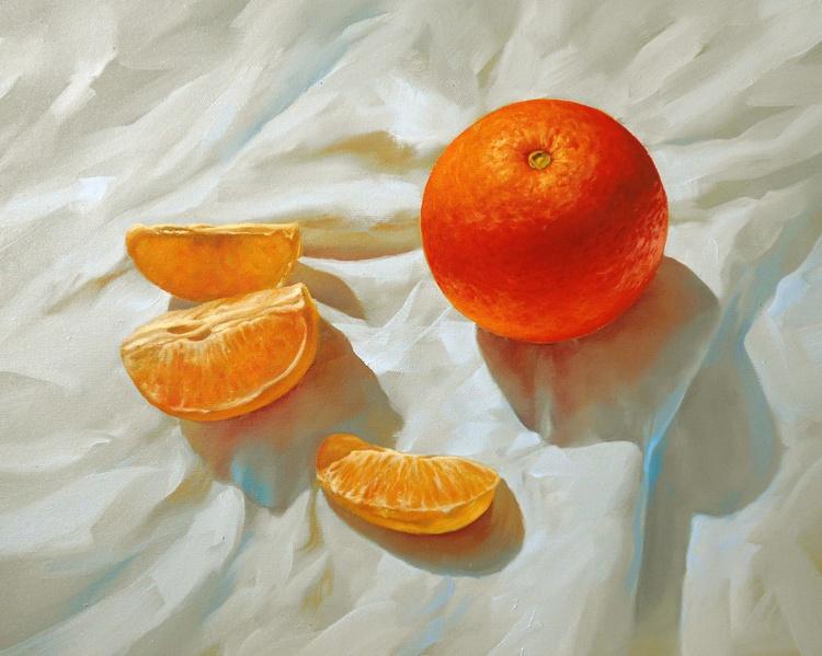 Orange. Still life / Oil on canvas - Image 0