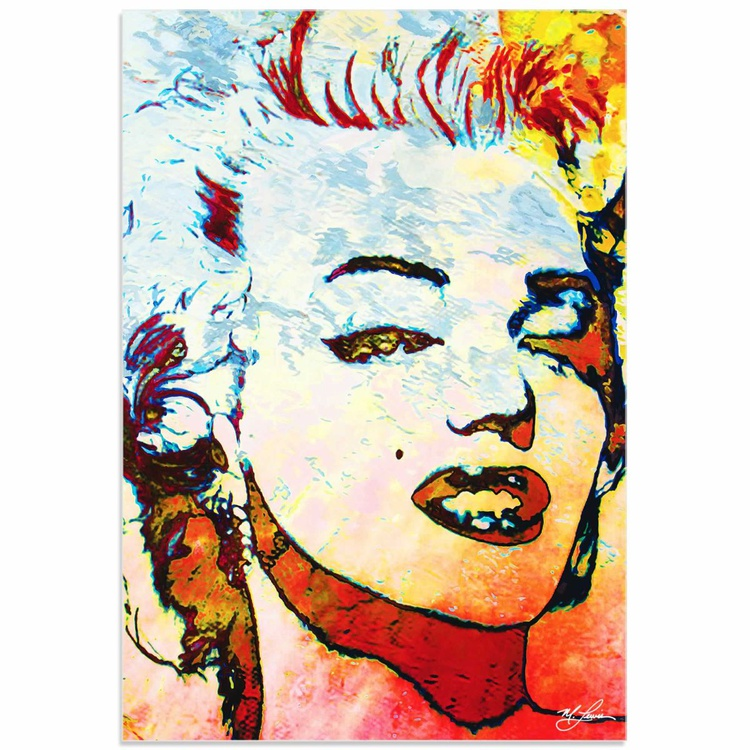 Mark Lewis 'Marilyn Monroe Red' Limited Edition Pop Art Print on Acrylic - Image 0