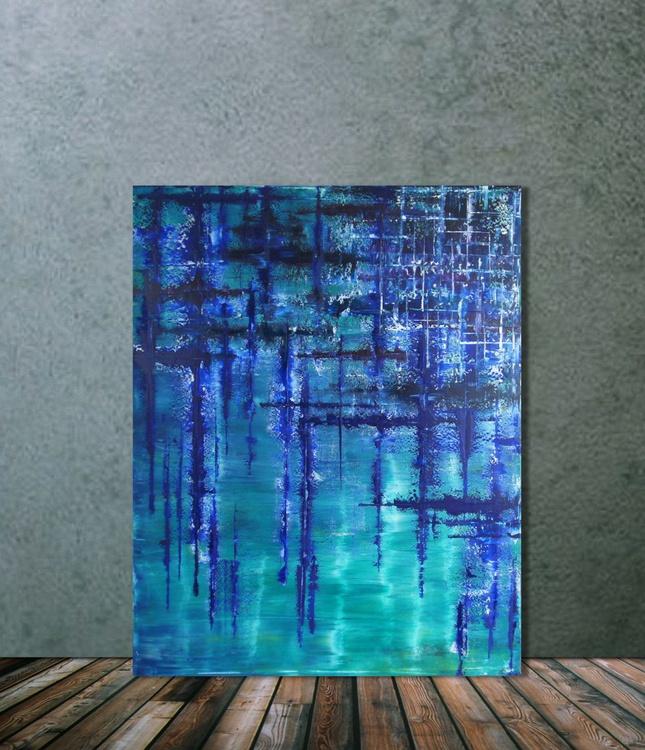 Frozen Grid (80 x 100 cm) - Image 0