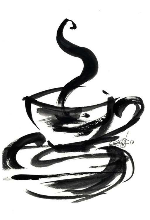 Brushstroke Coffee Cup No.1 - Image 0