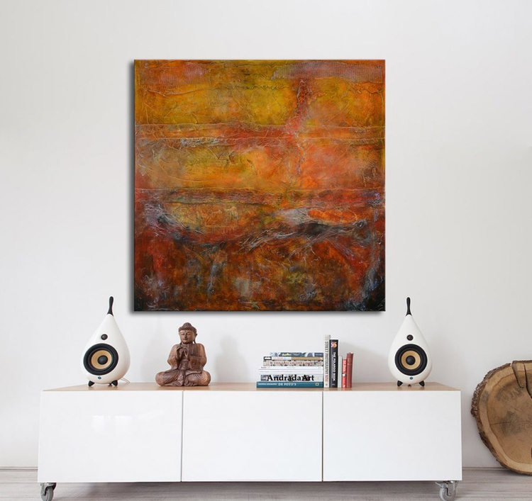 Signs - Contemporary Red Large Painting - Image 0