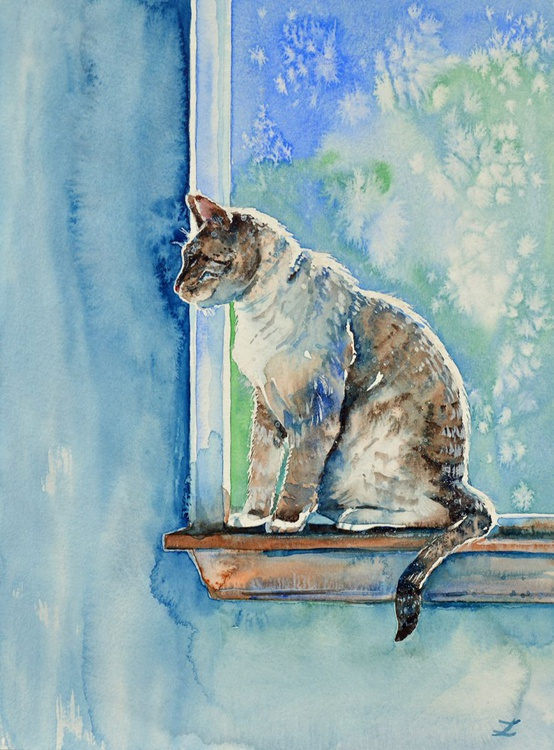 Cat on the Window - Image 0