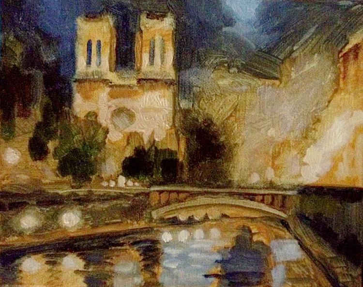 Notre Dame at Night - Image 0