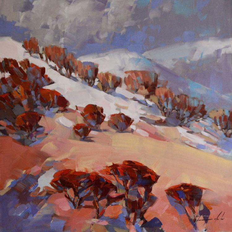 Landscape oil Painting One of a kind Handmade Artwork - Image 0