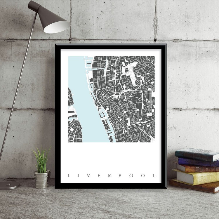 Liverpool Map Art Limited Edition Print - Image 0