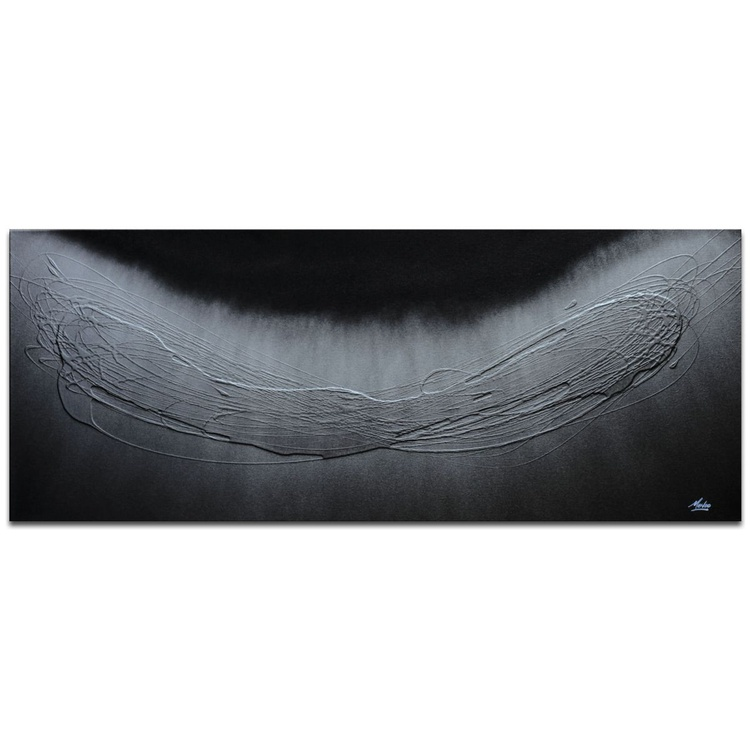 Mendo Vasilevski 'Spinning Silver' Contemporary Metal Wall Art Giclee - Image 0