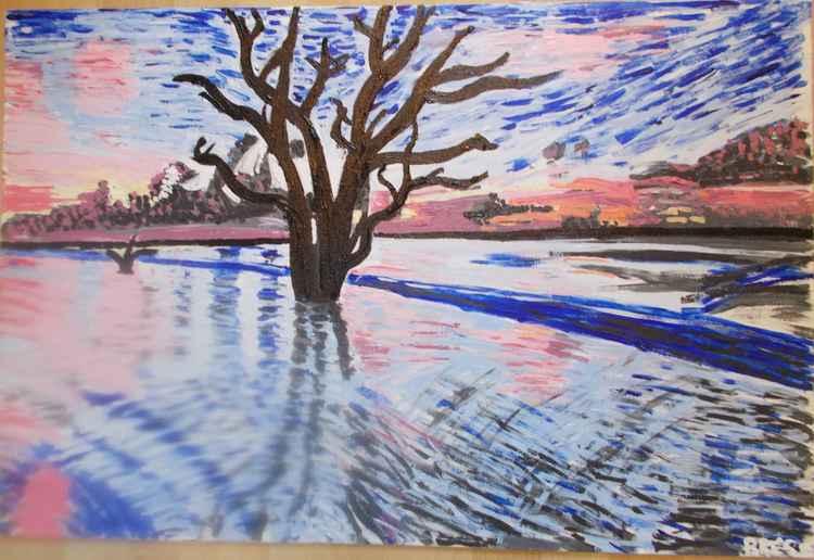 Tree under water -