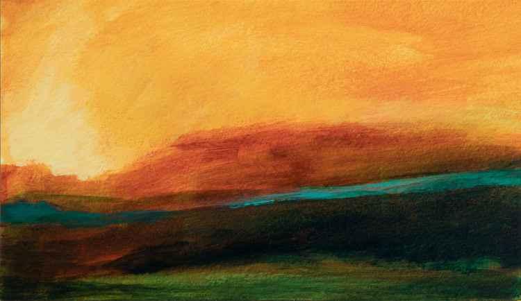 Imaginary landscape - small size - 16,5X28,5 cm -