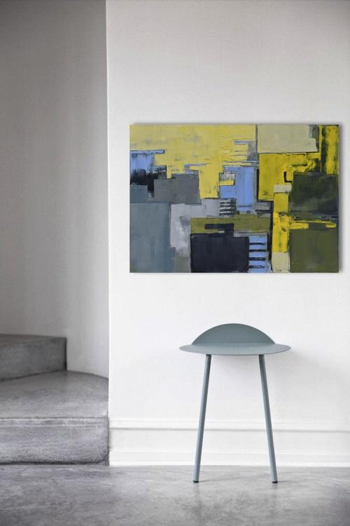 "Canvas art 39.37/27.5(100/70cm). ""Layer city 66"". - Image 0"