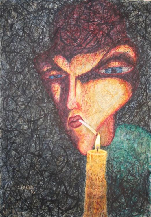 Smoker and candle - Image 0