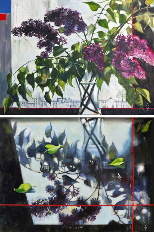 Lilac. Flowers. (Lilac - reflection). - Image 0