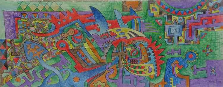 Aztec motifs -